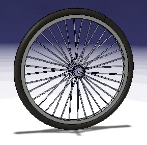 Simple bicyclefronwheel